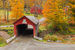 Green River Covered Bridge in Autumn, Village of Green River, Guilford, VT