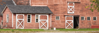 Red Barn at Harty Farm in Autumn, Taconic Mountains Region, Canaan, NY