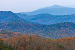 Blue Ridge Mountains in Autumn, View from Blue Ridge Parkway, Nelson County, VA