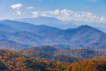 Mountain Layers in Autumn, View of Blue Ridge Mountains from Blue Ridge Parkway, Rockbridge County, VA