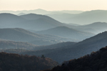 Backlit Mountain Layers in Autumn, View from Skyline Drive, Shenandoah National Park, Augusta County, VA