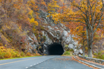 View of Marys Rock Tunnel and Skyline Drive in Autumn, Shenandoah National Park, Rappahannock County, VA