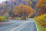 View of Skyline Drive and Tunnel Overlook in Autumn, Shenandoah National Park, Rappahannock County, VA