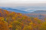 Fall Foliage on Mountainsides of Blue Ridge Mountains, View from Skyline Drive, Shenandoah National Park, Rappahannock County, VA