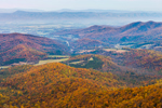 View of Shenandoah Valley and Blue Ridge Mountains in Autumn from Skyline Drive, Shenandoah National Park, Rappahannock County, VA