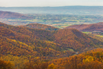 View of Shenandoah Valley and Blue Ridge Mountains in Autumn from Skyline Drive, Shenandoah National Park, Page County, VA