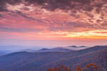 Predawn over Blue Ridge Mountains in Autumn, View from Skyline Drive, Shenandoah National Park, Rappahannock County, VA