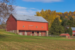 Big Red Barn in Pennsylvania Dutch Country in Autumn, Lenhartsville, Berks County, PA