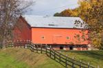 Big Red Barn in Pennsylvania Dutch Country in Autumn, Lenhartsville, Berks County, PA