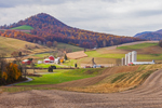 Farm in Autumn in Pennsylvania Dutch Country with Spitzenberg Hill in Background, near Stony Run, Berks County, PA