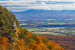 View of Shenandoah Valley and Blue Ridge Mountains in Autumn from atop Massanutten Mountain, Page County, VA