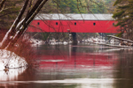 Cresson Bridge (1859), Red Covered Bridge over the Ashuelot River, Swanzey, NH