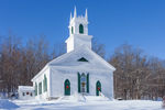 Stoddard Congretational Church in Winter, Founded 1787, Stoddard, NH