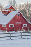 Horse Barn with Balcony in Winter after Snowfall, Bellows Falls, Rockingham, VT