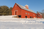 Old Historic Red Barn on General Lewis R Morris Homestead at Christmas Trees of Vermont Farm, Springfield, VT