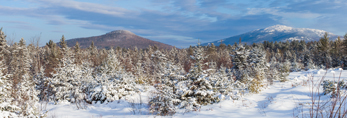 Mount Monadnock and Gap Mountain after Fresh Snowfall, View from Fitzwilliam, NH
