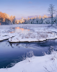 Early Morning Light at Lawrence Brook in Winter, Royalston, MA