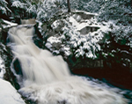 Doanes Falls on Lawrence Brook after Snowstorm, Royalston, MA