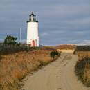 Sunlight Shines on Cape Poge Lighthouse, Chappaquiddick Island, Martha's Vineyard, Edgartown, MA