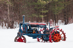 Antique McCormack-Deering Farmall Tractor in Winter, South Tamworth, NH
