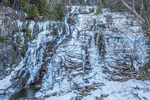 Silver Cascade in Winter, Crawford Notch State Park, White Mountains Region, Harts Location, NH