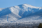 Mount Washington and the Presidential Range in Winter, White Mountain National Forest, View from Bretton Woods, Carroll, NH