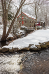 Old Grist Mill in Winter at Historic Longfellow's Wayside Inn, Sudbury, MA