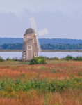 Windmill on the Connecticut River with Colorful Grasses in Foreground, Essex, CT