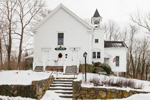 Olde Colonial Courthouse in Winter, Old Kings Highway, Cape Cod, Barnstable, MA