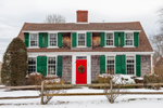 Colonial-style Home in Winter, Cape Cod, Barnstable, MA
