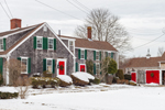 Cape Cod Colonial-style Home and Barn in Winter, Cape Cod, Barnstable, MA