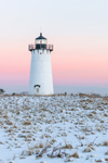 Sunrise at Edgartown Lighthouse after Snowstorm, Martha's Vineyard, Edgartown, MA
