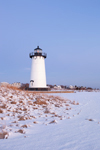 Predawn at Edgartown Lighthouse after Snowstorm, Martha's Vineyard, Edgartown, MA