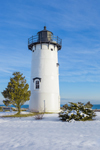 Early Morning at East Chop Lighthouse in Winter, Martha's Vineyard, Oak Bluffs, MA