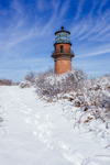 Gay Head Lighthouse after Snowstorm, Martha's Vineyard, Aquinnah, MA