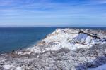 Snow-covered Gay Head Cliffs after Snowstorm, Martha's Vineyard, Aquinnah, MA