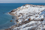 Snow-covered Gay Head Cliffs after Snowstorm, Martha's Vineyard, Aquinnah, MA