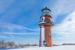 Gay Head Lighthouse after Snowstorm, Martha's Vineyard, Aquinnah, MA