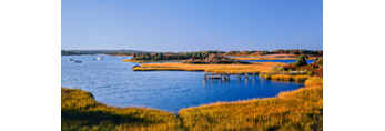 Nashaquitsa Pond and Salt Marsh, Martha's Vineyard, Chilmark, MA