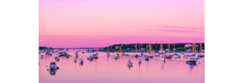 Sunrise in Edgartown's Inner Harbor, Martha's Vineyard, Edgartown, MA