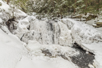 Doanes Falls in Winter after Dusting of Snow, Royalston, MA