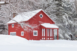 Red Barn after Snowstorm, New Salem, MA