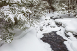 Scott Brook in Winter after Dusting of Snow, Royalston, MA