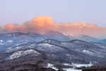 Clouds over White Mountains at Sunrise, White Mountain National Forest, View from Jackson, NH