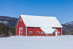 Farm in Winter in Connecticut River Valley, Lyme, NH