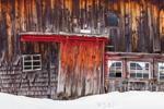 Windows and Door on Old Wooden Barn, Bouldervale Farm, Grantham, NH