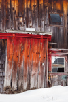 Close Up of Window and Door on Old Wooden Barn, Bouldervale Farm, Grantham, NH