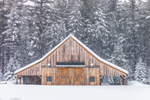 Wooden Barn During Snowstorm, White Mountain National Forest, Albany, NH