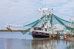 "Shrimp Boat ""Capt Neil"" at Dock, Creole Nature Trail, National Scenic Byway, Gulf Coast, Cameron, LA"