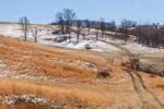 Virginia Farmland with Dusting of Snow, Pulaski County, Draper, VA